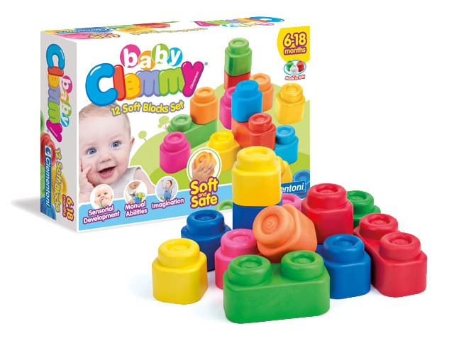 Baby Clemmy-12 რბილი რეზინის კუბიკი